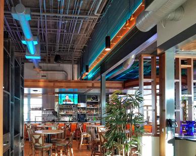 Uniform Linear Chesapeake's Restaurant Bar Restaurant Interior Design