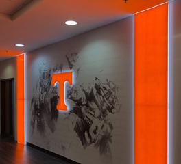 Uniform Linear University of Tennessee Locker Room Linear LED Lighting Design