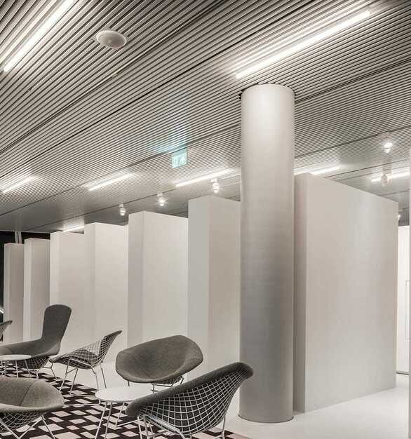 Forum Groningen is located in Groningen, Netherlands featuring lighting products by Acuity Brands eldoLED®. Project in collaboration with NL Architects.