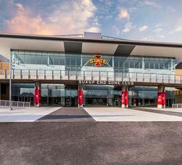 University stadium entrance and design
