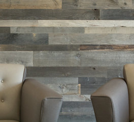 Urban Woods Company Motivating Graphics Salt and Pepper Paneling Mix Waiting Area