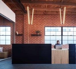 Vertebrae Architecture + Design Psyop Modern Reception Desk Design