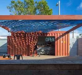 Vertebrae arechitecture and design Troll Blue Swell pop up bar design