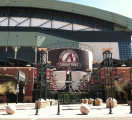 Vetter Stone Arizona Diamondbacks Stadium Bank One Ballpark Phoenix AZ Northern Pink Minnesota Stone with honed finish Architect Ellerbe Becket 3