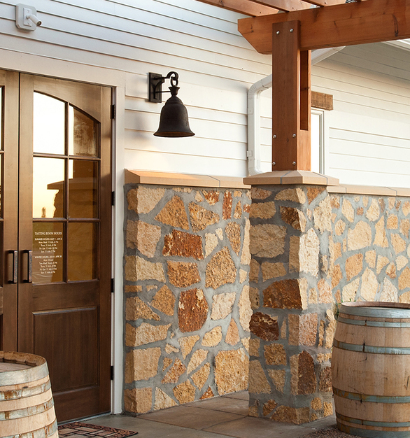 Stunning Minnesota Stone from Vetter Stone was used on the entrance of the Chankaska Creek Ranch & Winery.