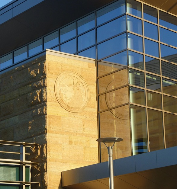 Seen here on the East Contra Costa County Courthouse is Vetter's Minnesota Stone offers engaging textures for visual intrigue and tones that are natural, soothing and harmonious.