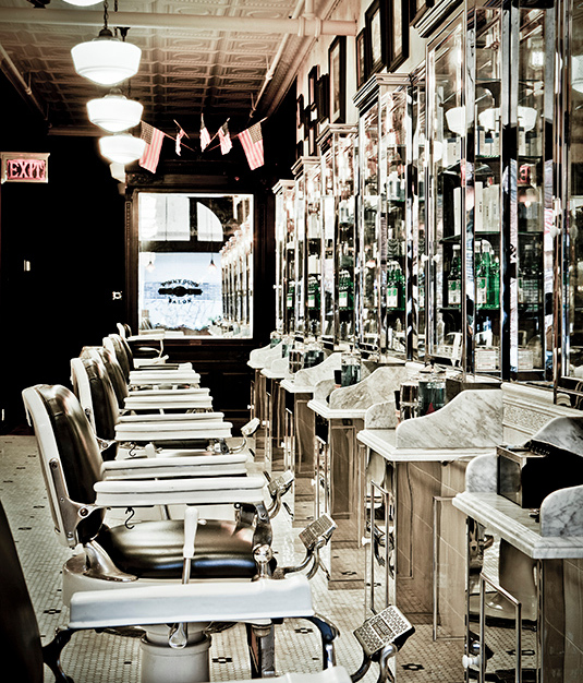 Take a step back in time while pampering yourself at this vintage inspired salon.  Complete with barber style chairs and tin ceilings.