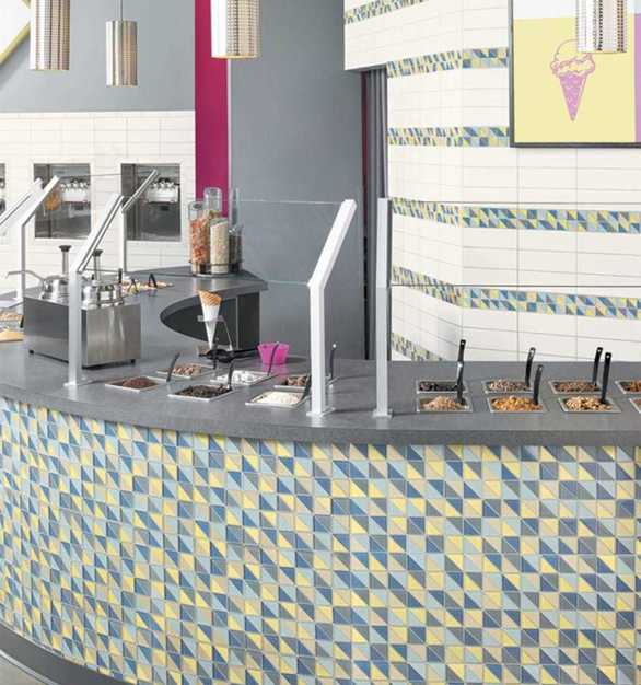The mosaics are