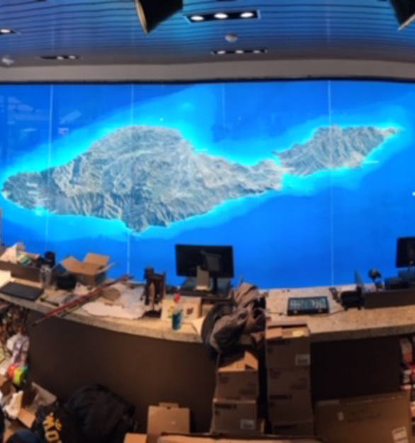 The wall-mounted LUXMESH™ LED lattice provides a backlight to the map of Catalina Island.   The large format backlighting product spans a large area with high brightness, even illumination and reduced installation time, which was possible because the lattice was wall mounted with a minimal number of screws into the wall at the top, middle, and bottom of the exhibit.