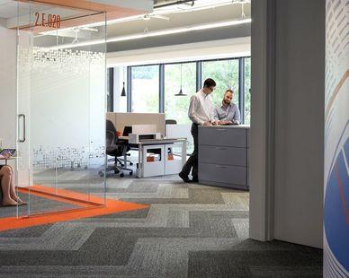 Fiserv Office in Atlanta, GA, designed by TVS Design  Photo Credit: TVS Design