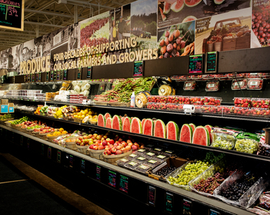 Fresh Produce Display at Wedge Co-op.