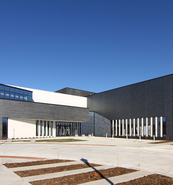 Wells Concrete Austin Community Recreation Center Main Facade