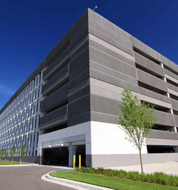 This parking ramp completed by Wells Concrete also has the ability to be expanded southward for a total of 2,700 parking stalls through a future phase of construction.