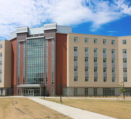Wells Concrete North Dakota State University Residence Hall University Housing Main Entrance Facade