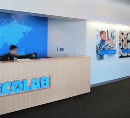 Wennerlyn creative sourcing ecolab HQ training facility reception
