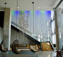 Wennerlyn creative sourcing patrick k pryor nordhaus apartment homes lobby sculpture