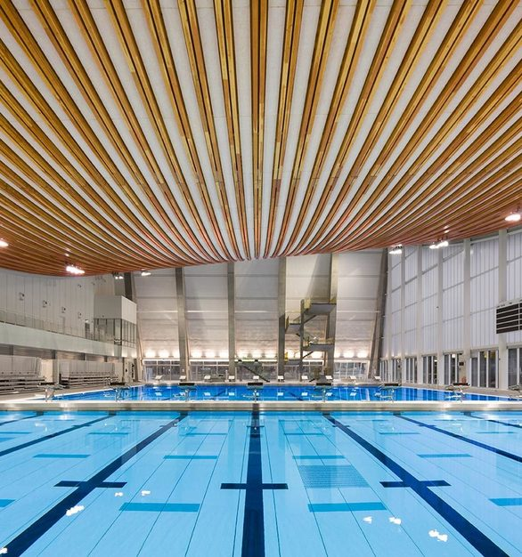 The interior of Grandview Heights Aquatic Centre is Surrey's newest and largest aquatic facility.
