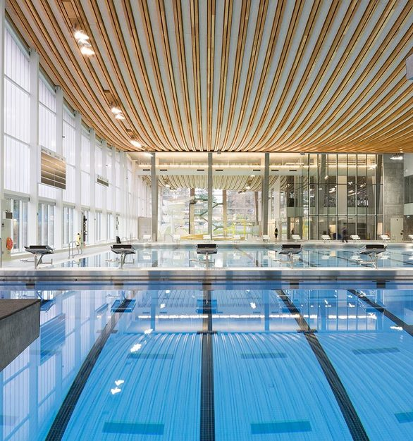 The beautiful interior of Grandview Heights Aquatic Centre is Surrey's newest and largest aquatic facility.