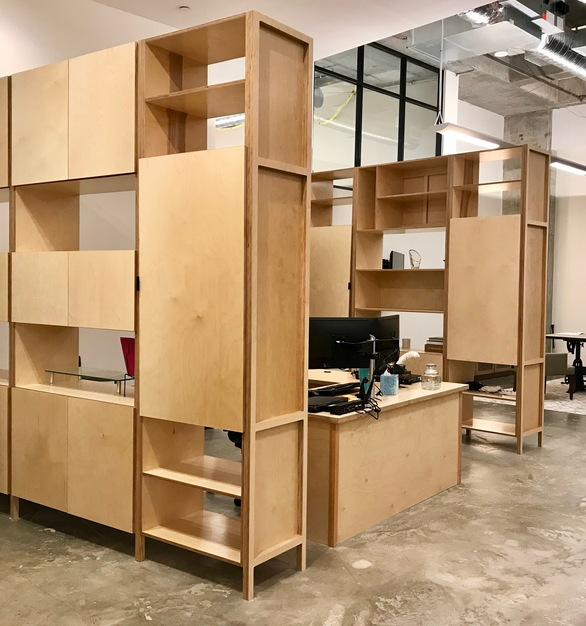Wood Cubicles can also fabricate custom casework to compliment your selections.