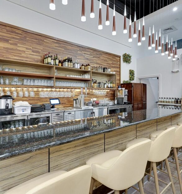 Designer Laminate panels and Eco-Panels from ASI were installed in this Japanese Restaurant.