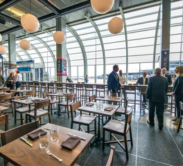 Wood Statements Walnut Dining Tables Publican Tavern O'hare International Airport