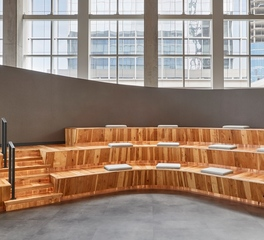 Woodwright Floor Company JP Morgan Chase Office Bench Seating