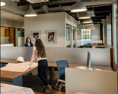 The TTF Series Light Fixture can be mounted at ceiling height for overall ambient lighting or stem/cord mounted to provide more localized lighting for task or accent areas. The TTF Series fixture is provided by Bock Lighting.