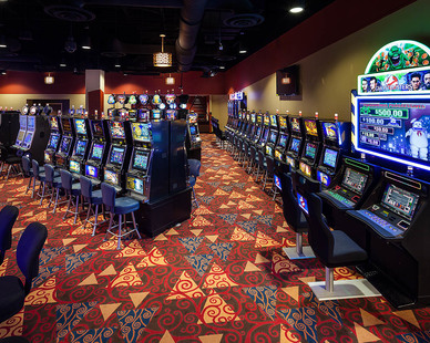 Gaming floor at the Apache Travel Plaza Casino.
