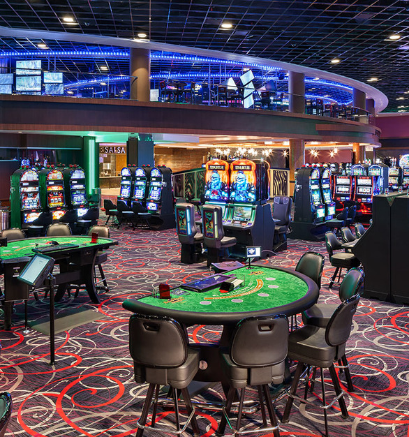 The Hard Rock Hotel And Casino in Tulsa features a multi level gaming area.