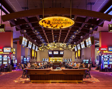 The Choctaw Pocola Casino features a spacious casino game floor.