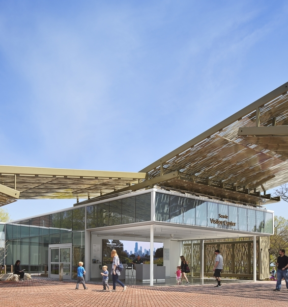 Zoo Visitor Entrance Overhead Structure Design