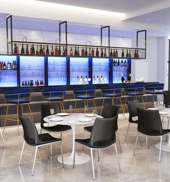 Zuo Modern's Ace chair featured in an upscale bar/eatery.