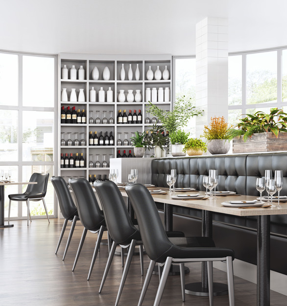 Zuo Modern furniture featured in a classically modern dining area