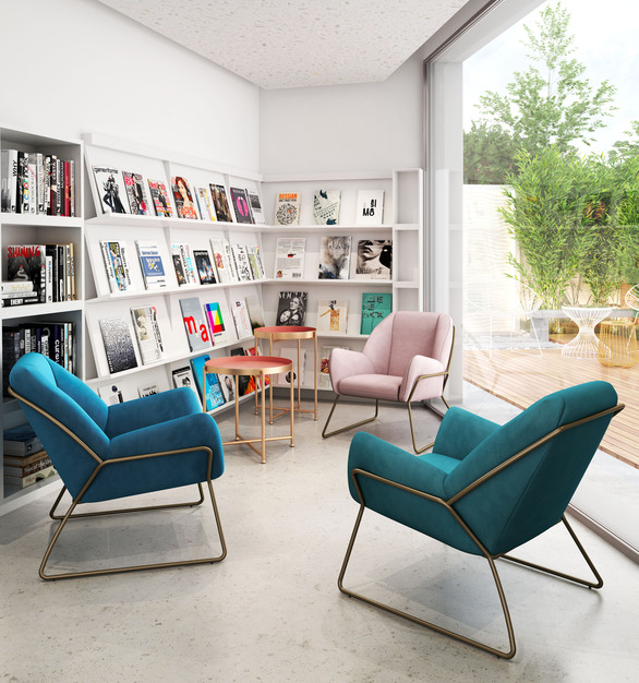 The Stanza armchair is the perfect modern flair for any lounge space.