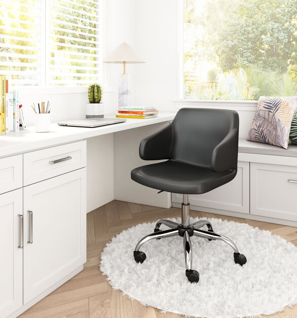 With a completely wild shape, the Designer Office Chair by ZUO Modern has mid-century modern urban lines and looks great in any space.
