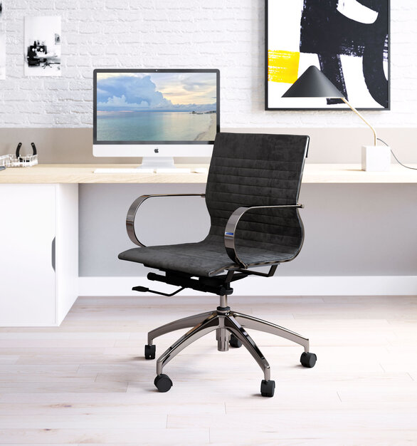 Elevate your workspace with this chair by ZUO Modern. This executive office chair is dressed up in black fabric to show them who's boss.