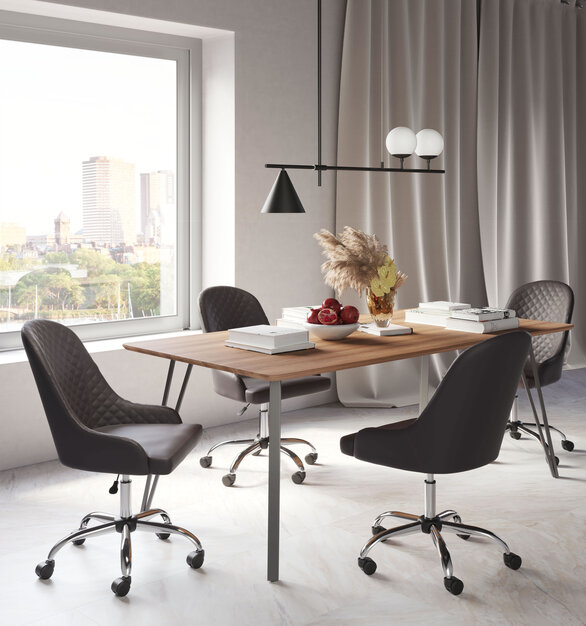 The Space Office Chair by ZUO Modern has mid-century modern urban lines and looks great in any space.