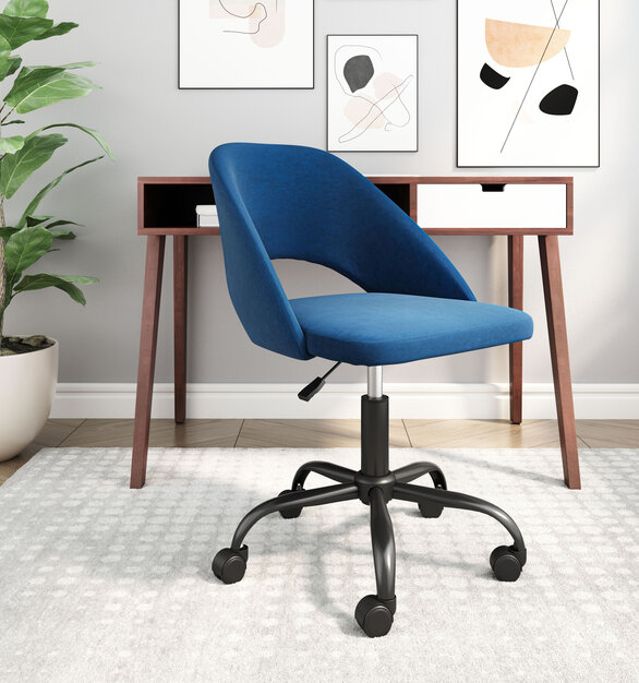 Be your own designer with this fun piece. The Treibh Office Chair has a powder-coated steel frame, covered within polyester, and has height adjustment.
