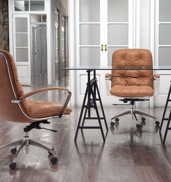 Relax in ZUO Modern's lavish comfort as the Avenue Office chair becomes the new design classic.