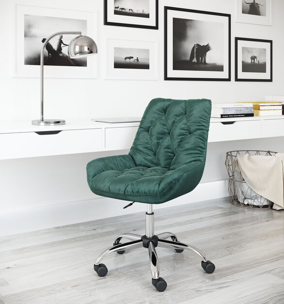 This loft office chair is designed to add an accent and stylish touch to your workplace, by ZUO Modern.