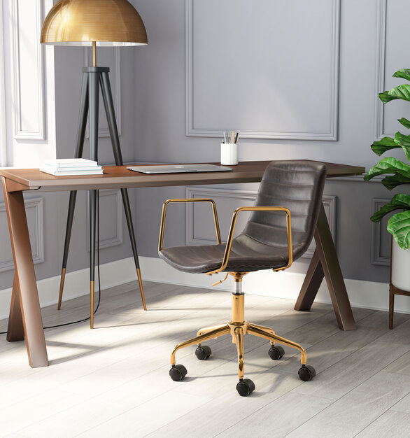 The Eric Office Chair by ZUO Modern has glam and maximalist design and looks great in any space from modern to boho chic.