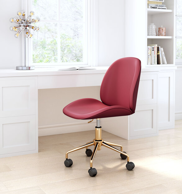 The Miles Office Chair by ZUO Modern has glam and maximalist design and looks great in any space from modern to boho chic.