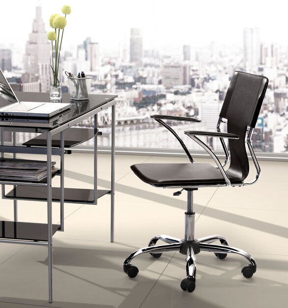 This fun and functional office chair by ZUO Modern combines a modern and transitional look.