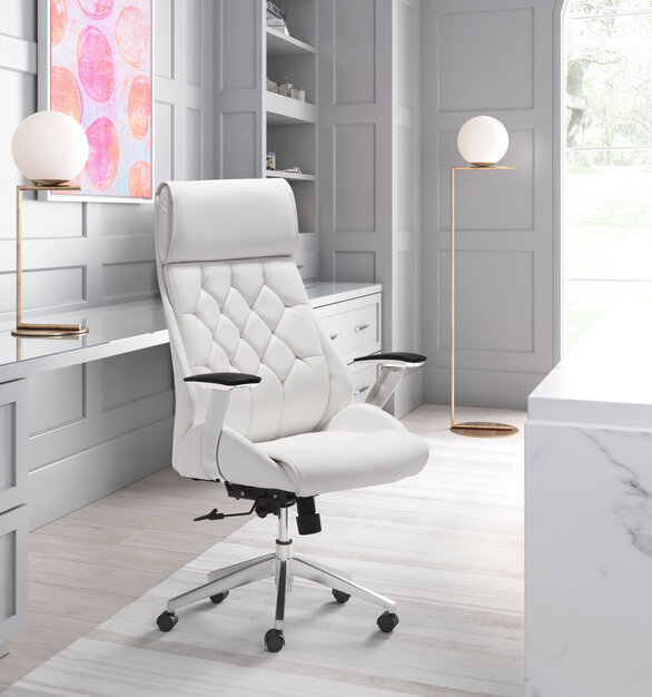 Be the leader of your desk with the Boutique Office Chair by ZUO Modern.